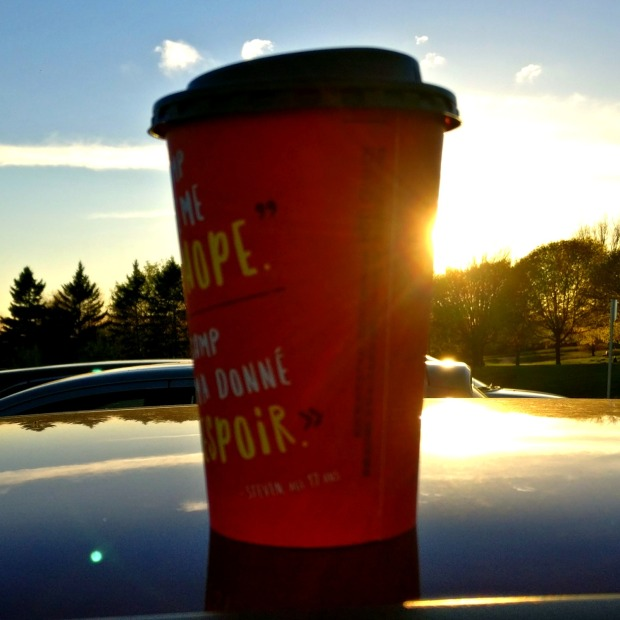 Art Shot of Tim Horton's Latte