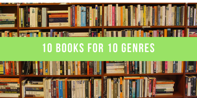 10 books for 10 genres thumbnail