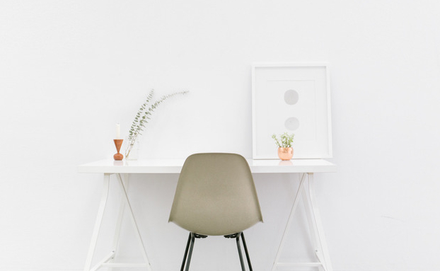 Canva - Beige and Black Chair in Front of White Desk