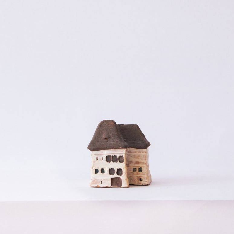 Brown and Black House Miniature